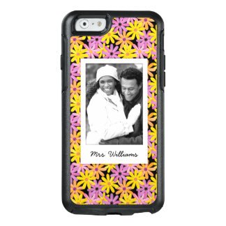 Custom Photo & Name Gerbera flowers pattern OtterBox iPhone 6/6s Case