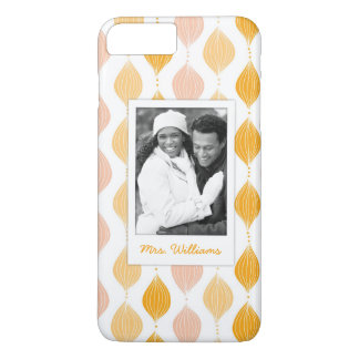 Custom Photo & Name Golden Ogee Pattern iPhone 8 Plus/7 Plus Case