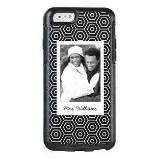 Custom Photo & Name Hexagonal geometric pattern OtterBox iPhone 6/6s Case