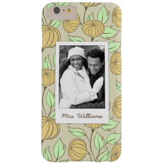 Custom Photo & Name Illustration of pumpkins Barely There iPhone 6 Plus Case