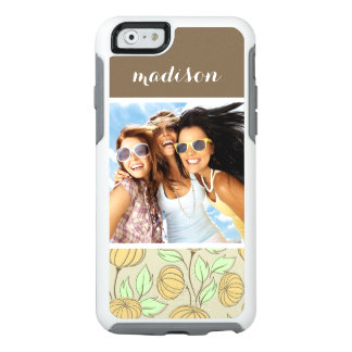 Custom Photo & Name Illustration of pumpkins OtterBox iPhone 6/6s Case