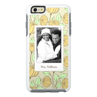 Custom Photo & Name Illustration of pumpkins OtterBox iPhone 6/6s Plus Case