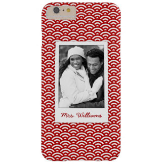 Custom Photo & Name Japanese pattern Barely There iPhone 6 Plus Case