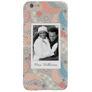 Custom Photo & Name Japanese Style Pattern Barely There iPhone 6 Plus Case