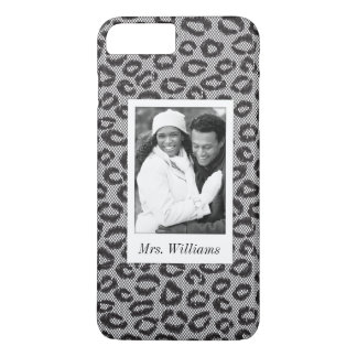 Custom Photo & Name lace with leopard pattern iPhone 8 Plus/7 Plus Case