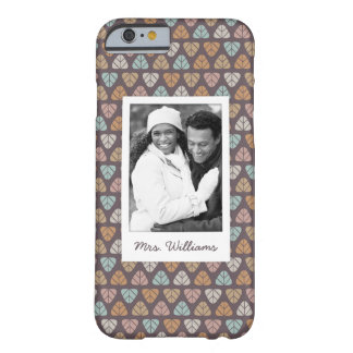 Custom Photo & Name Leaf pattern 2 Barely There iPhone 6 Case