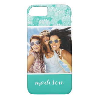 Custom Photo & Name Lotus pattern 2 iPhone 8/7 Case