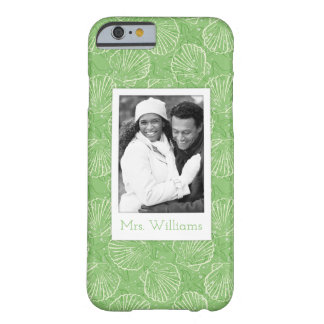 Custom Photo & Name Outline seashells Barely There iPhone 6 Case