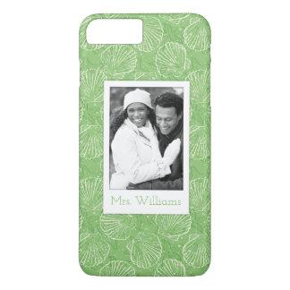 Custom Photo & Name Outline seashells iPhone 8 Plus/7 Plus Case