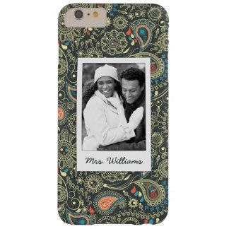 Custom Photo & Name Paisley Pattern 3 Barely There iPhone 6 Plus Case