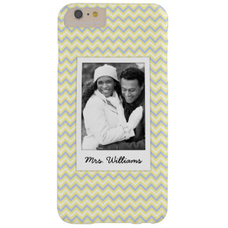 Custom Photo & Name Pastel Chevron Pattern Barely There iPhone 6 Plus Case