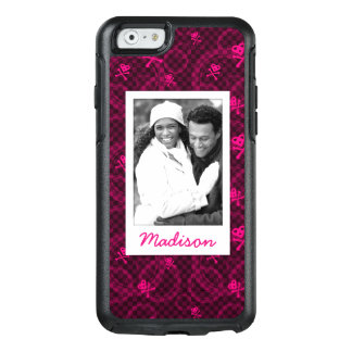 Custom Photo & Name Pink Emo Pattern With Circles OtterBox iPhone 6/6s Case