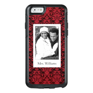 Custom Photo & Name Red wallpaper 2 OtterBox iPhone 6/6s Case