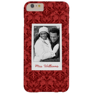 Custom Photo & Name Red Wallpaper Barely There iPhone 6 Plus Case