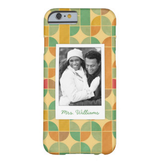 Custom Photo & Name Retro abstract pattern Barely There iPhone 6 Case