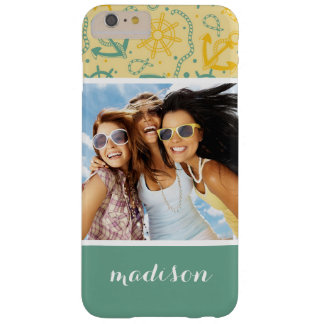 Custom Photo & Name Retro Anchor & Ropes Barely There iPhone 6 Plus Case