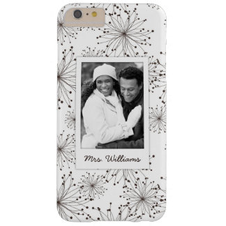Custom Photo & Name Retro floral background Barely There iPhone 6 Plus Case