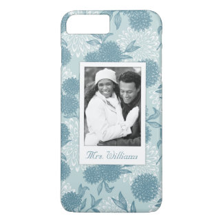 Custom Photo & Name Retro Floral Pattern 2 2 iPhone 8 Plus/7 Plus Case