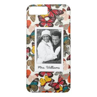 Custom Photo & Name Retro floral pattern 7 iPhone 8 Plus/7 Plus Case
