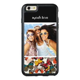 Custom Photo & Name Retro floral pattern 7 OtterBox iPhone 6/6s Plus Case