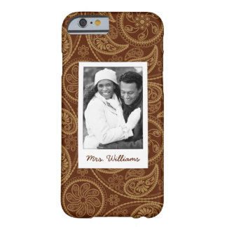 Custom Photo & Name Retro mandala pattern Barely There iPhone 6 Case