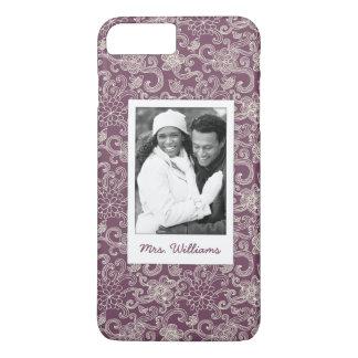 Custom Photo & Name Retro pattern iPhone 8 Plus/7 Plus Case