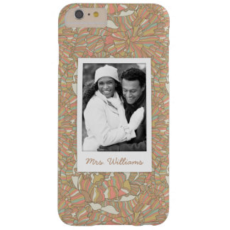 Custom Photo & Name Romantic Peony Pattern Barely There iPhone 6 Plus Case