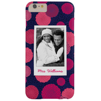 Custom Photo & Name Round flowers pattern Barely There iPhone 6 Plus Case