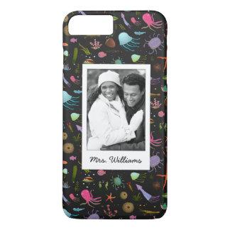 Custom Photo & Name Sea Critters Pattern iPhone 7 Plus Case