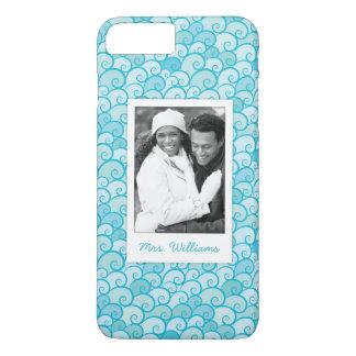 Custom Photo & Name Sea Pattern iPhone 8 Plus/7 Plus Case