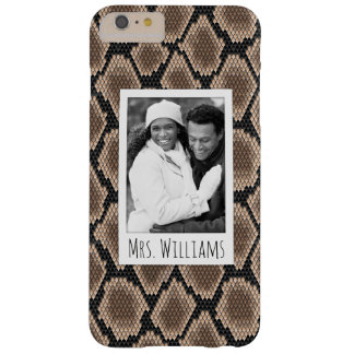 Custom Photo & Name Snake skin Barely There iPhone 6 Plus Case