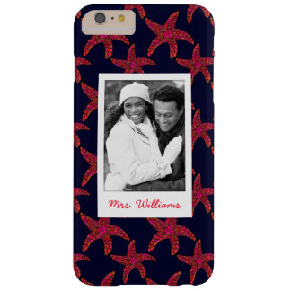 Custom Photo & Name Starfish Style Pattern Barely There iPhone 6 Plus Case