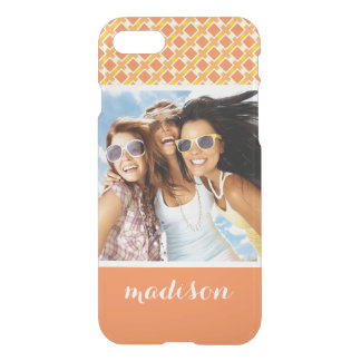 Custom Photo & Name Sunny orange background retro iPhone 8/7 Case