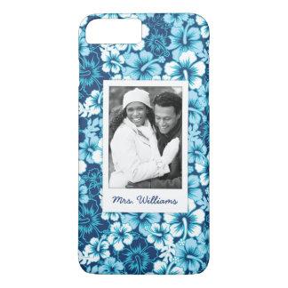 Custom Photo & Name Surf Floral Hibiscus Pattern iPhone 8 Plus/7 Plus Case