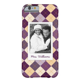 Custom Photo & Name Sweater Background Barely There iPhone 6 Case
