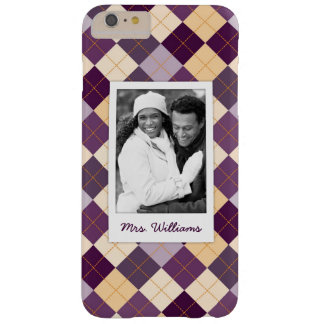 Custom Photo & Name Sweater Background Barely There iPhone 6 Plus Case