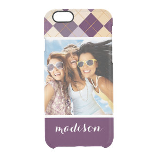 Custom Photo & Name Sweater Background Clear iPhone 6/6S Case