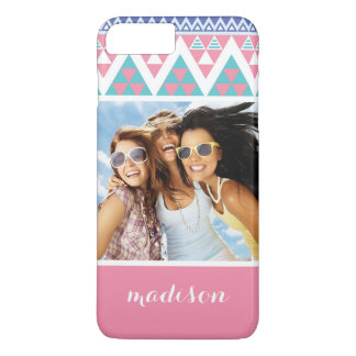 Custom Photo & Name Tribal aztec colorful pattern iPhone 8 Plus/7 Plus Case
