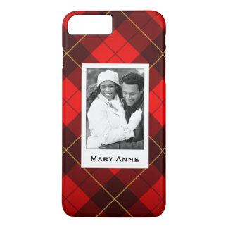 Custom Photo & Name Wallace tartan background iPhone 8 Plus/7 Plus Case
