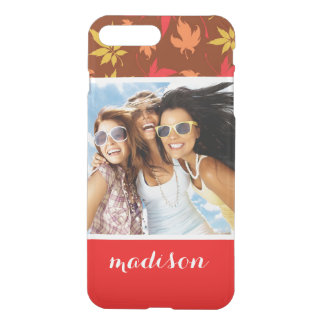 Custom Photo & Name with colorful Autumn Leaves iPhone 8 Plus/7 Plus Case