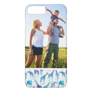 Custom Photo Neon Giraffes iPhone 8 Plus/7 Plus Case