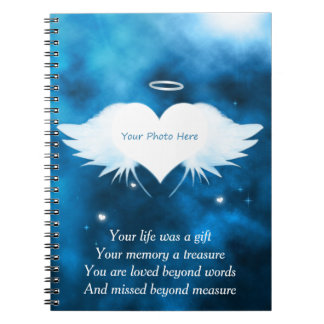 Custom Photo Notebook - Angel of the Heart