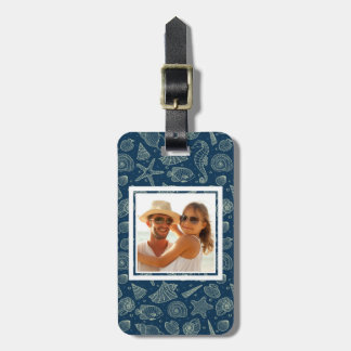 Custom Photo Ocean Inhabitants Pattern 2 Luggage Tag