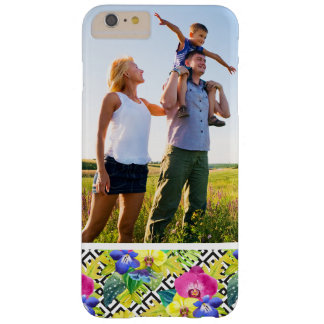 Custom Photo Orchid Begonia And Palm Leaves Barely There iPhone 6 Plus Case