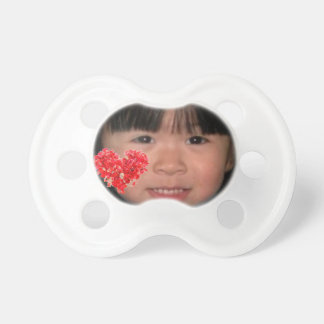Custom Photo Pacifier with Red Heart