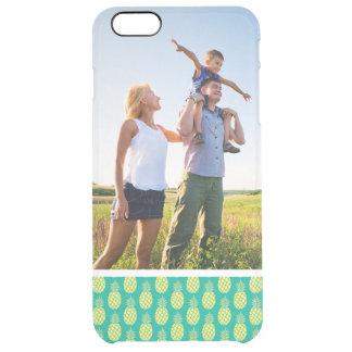 Custom Photo Pastel Pineapples Clear iPhone 6 Plus Case