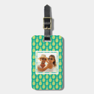 Custom Photo Pastel Pineapples Luggage Tag