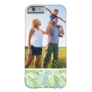 Custom Photo Pastel Tropical Palm Leaves Barely There iPhone 6 Case