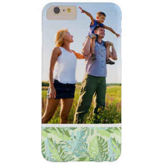 Custom Photo Pastel Tropical Palm Leaves Barely There iPhone 6 Plus Case