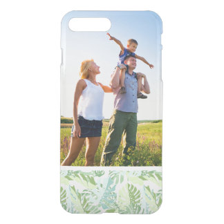 Custom Photo Pastel Tropical Palm Leaves iPhone 8 Plus/7 Plus Case